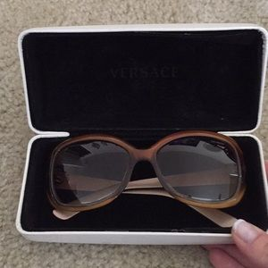 POLARIZED Versace Sunglasses (with case!)